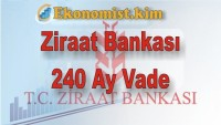 Ziraat Bankası 240 Ay Vadeli Konut Kredisi