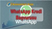 Whatsapp'tan Kredi Başvurusu