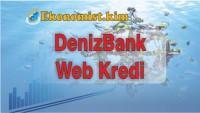 Denizbank Web Kredi