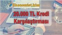 20.000 Kredi 48 Ay Vadeli En Uygun Banka Hangisi