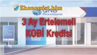 QNB Finansbank KOBİ'lere 3 Ay Ödemesiz 120 Ay Vadeli Kredi